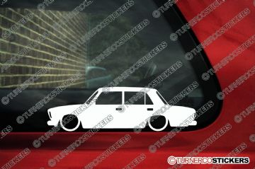 2x Low car outline stickers - Lada Riva sedan VAZ-2107